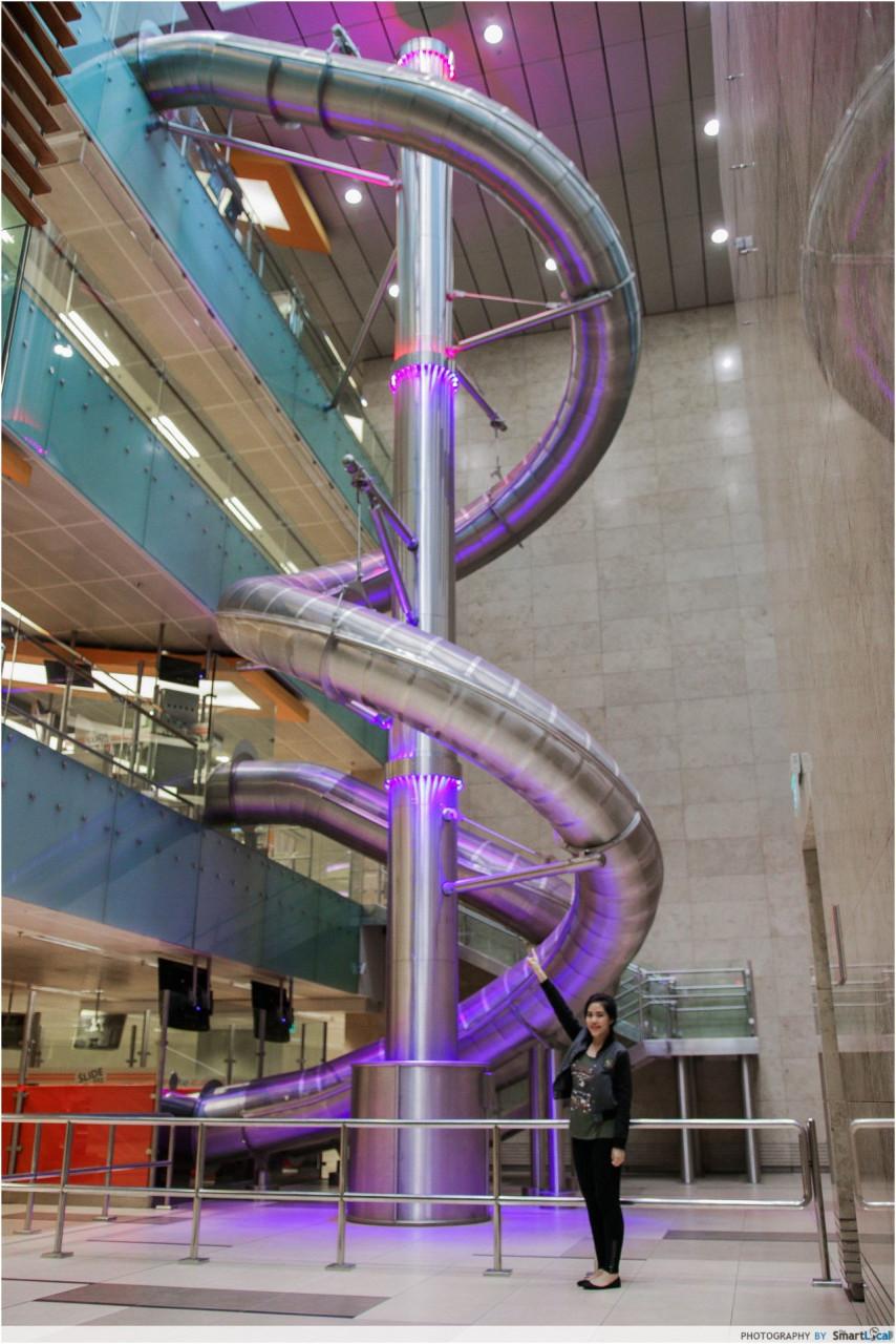 changi airport terminal largest slide