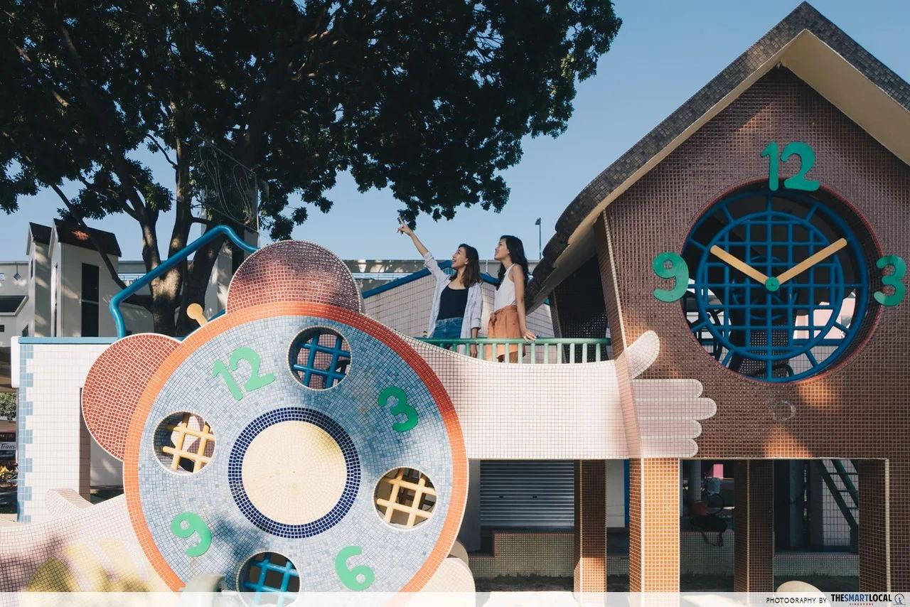 old school clock playground singapore