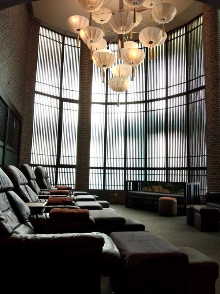 Reborn Wellness Malaysia's massage chairs with high ceiling