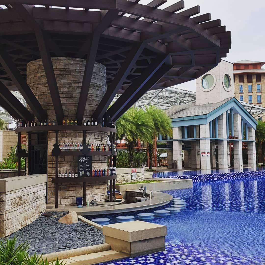hard rock hotel sand beach swimming pool bar