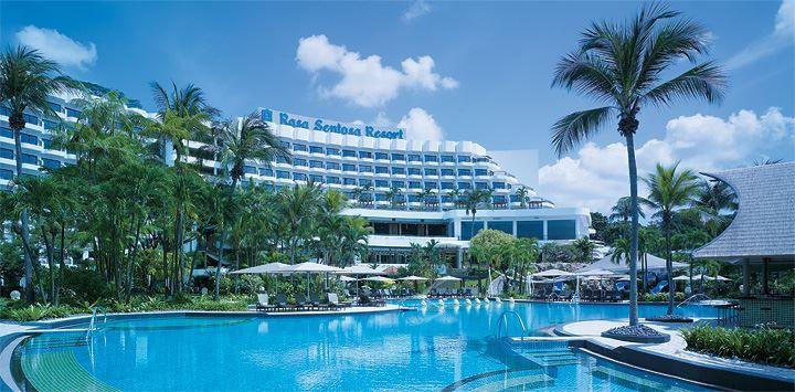 shangri la sentosa resort and space swimming pool