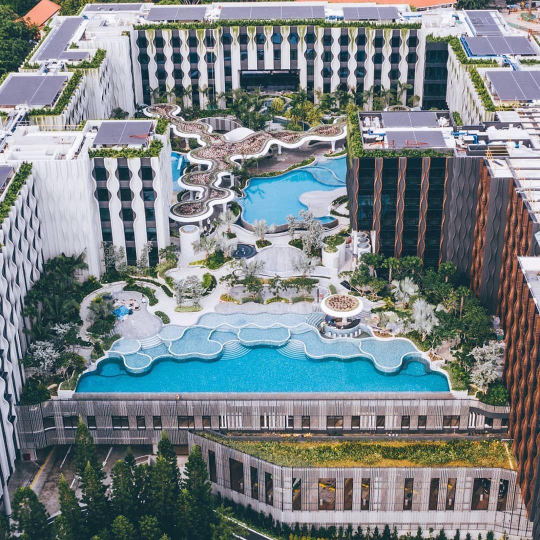 sentosa village hotel infinity pool sea view luxury