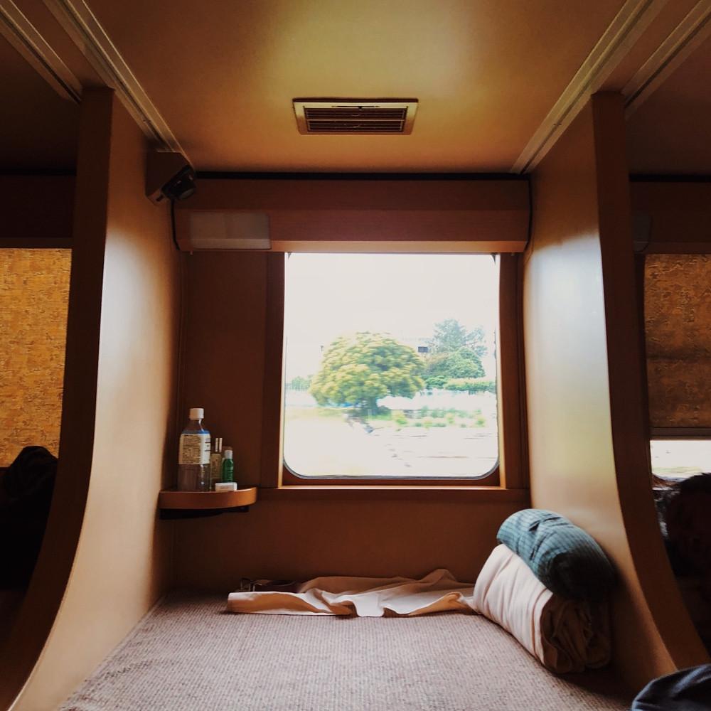 JR Pass - overnight sleeper train