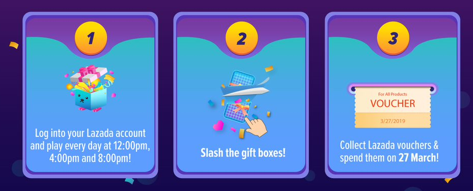 Lazada Birthday Sale - play games to win vouchers