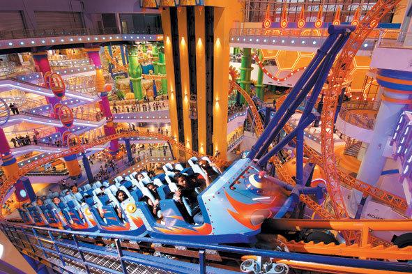 Roller coaster at Berjaya Times Square theme park