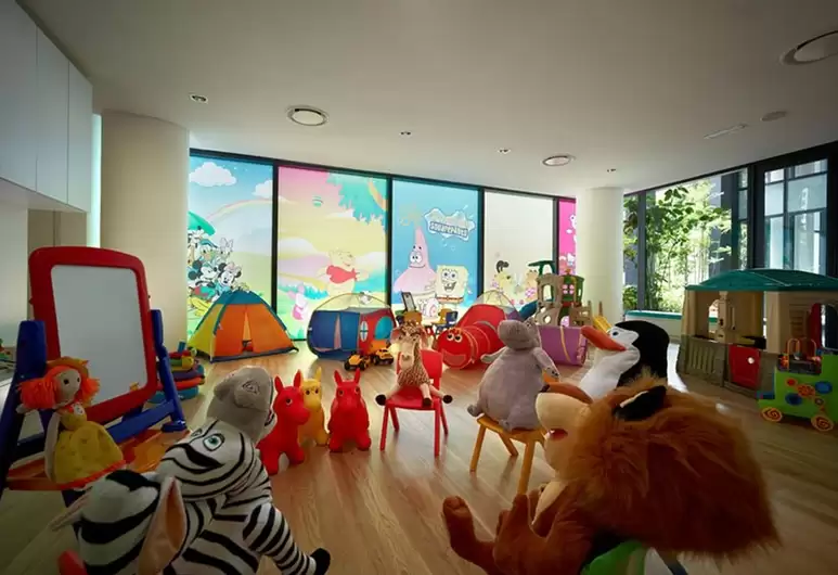Madagascar stuffed toys at E&O Residence KL's play room
