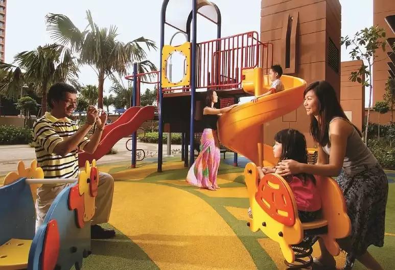 Families at playground of Berjaya Times Square Hotel