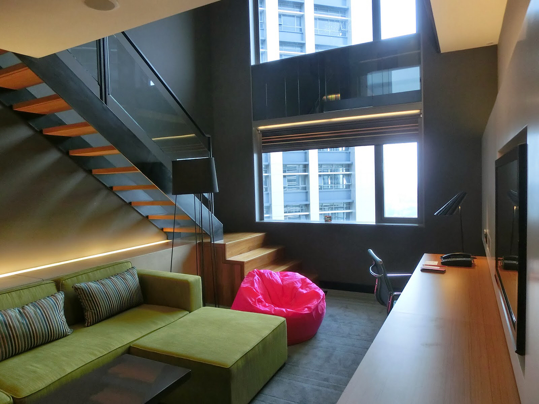 Living area of Aloft KL suite