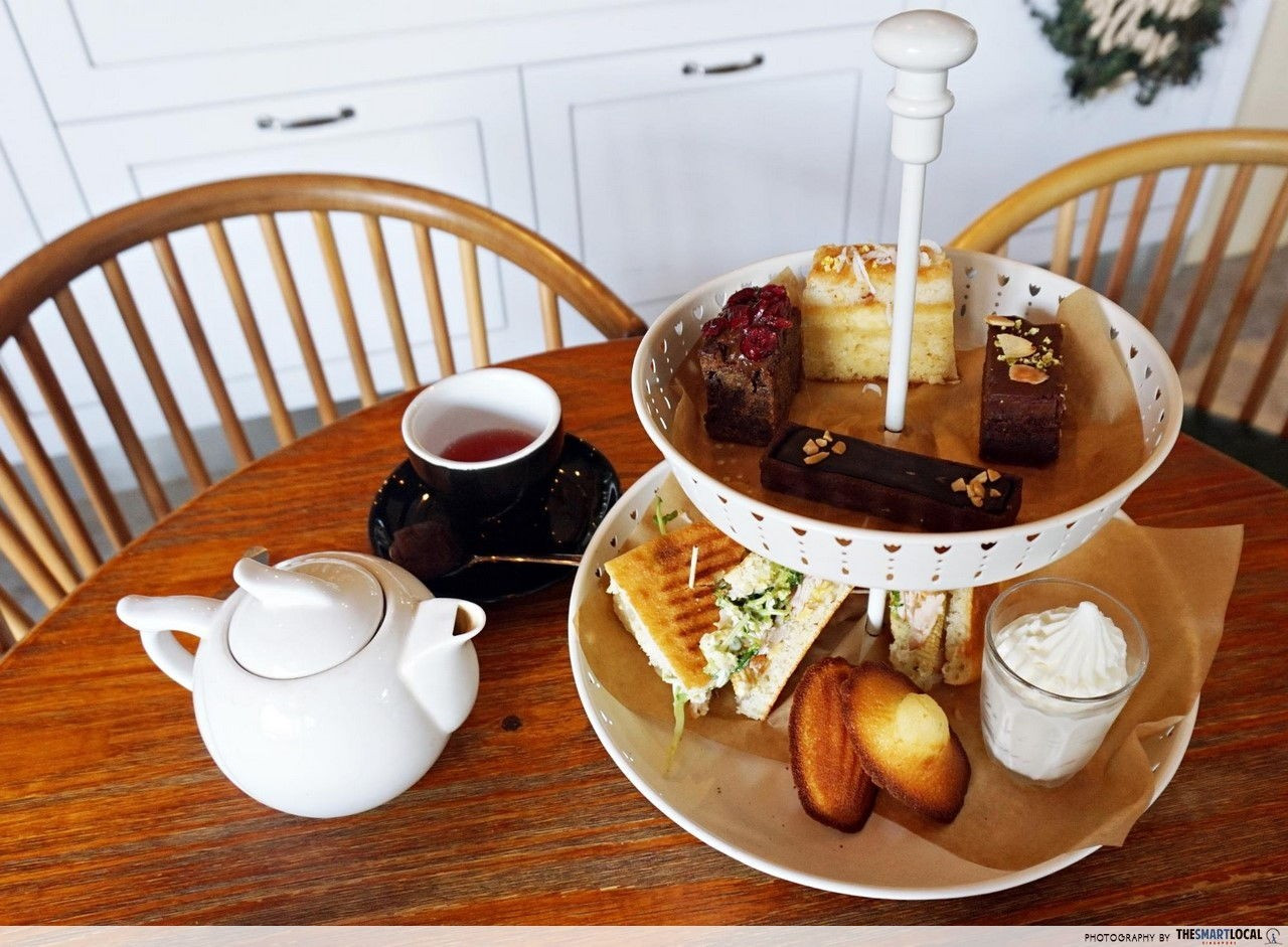 High-tea desserts at Wildseed Cafe