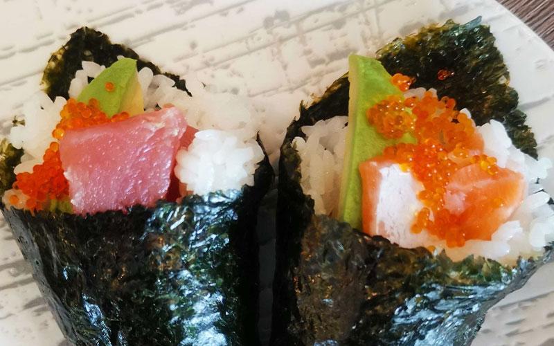 Salmon/ Maguro Avocado Handrolls