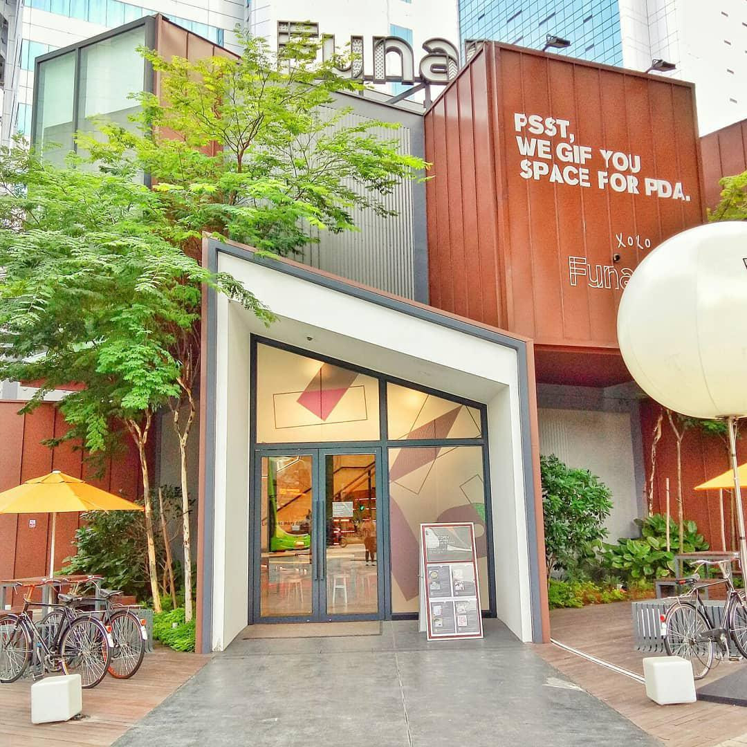 Funan pop-up building