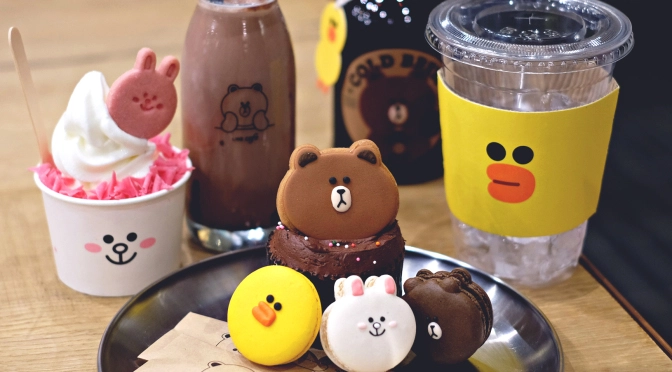 LINE character cafe's food