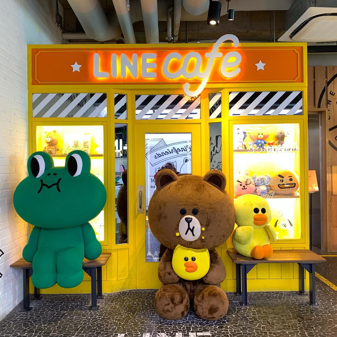 Line & Snow Cafe in Seoul