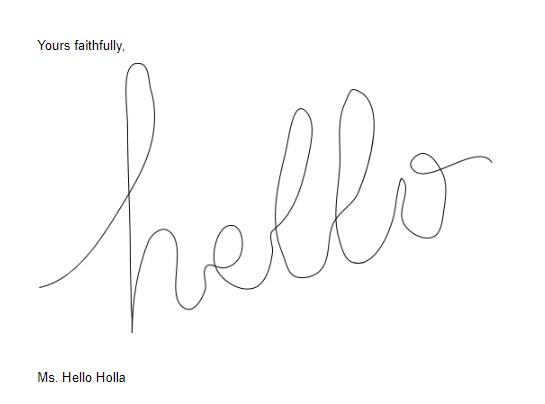 Signature in Google Docs