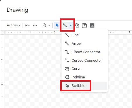 Scribble function in Google Docs