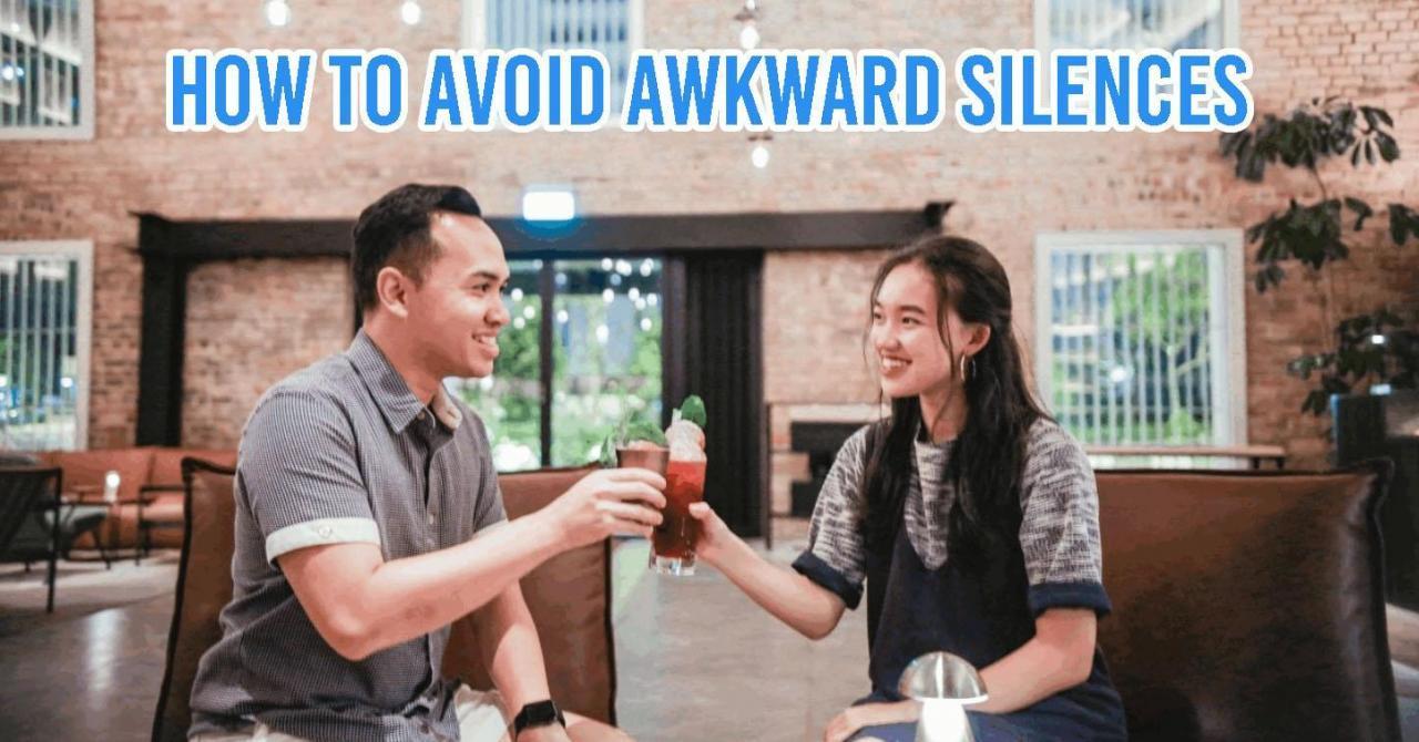 how to avoid awkward silences
