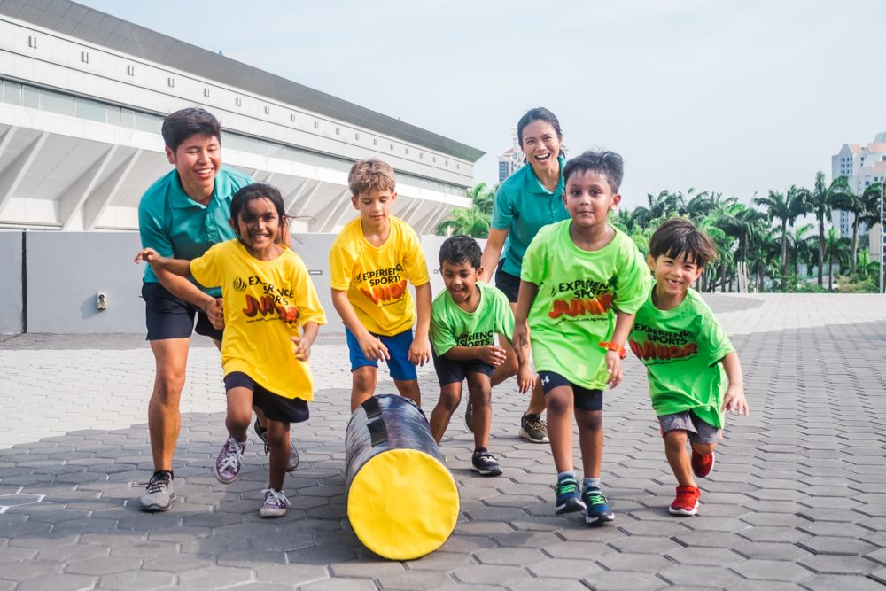 kids race at Singapore Sports Hub