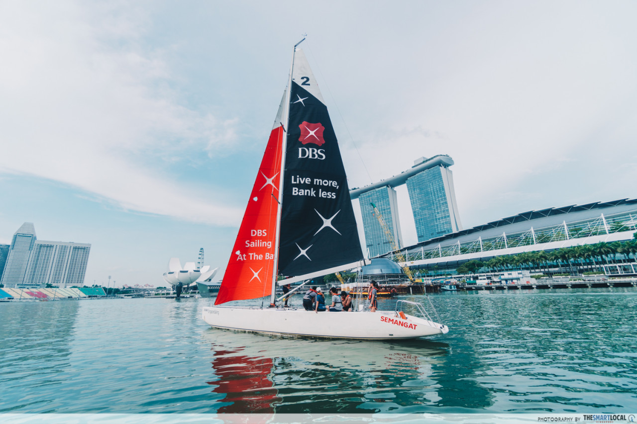 sailing around marina bay singapore sailing federation