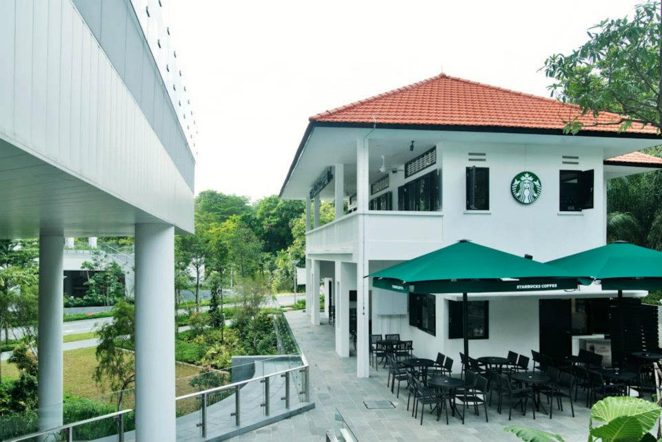 prettiest starbucks singapore outlets rochester park exterior