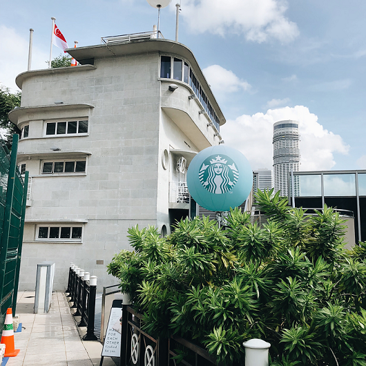 prettiest starbucks singapore outlets fullerton waterboat house