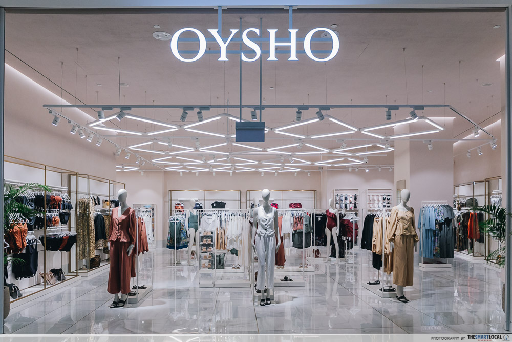 Oysho storefront at Jewel Changi