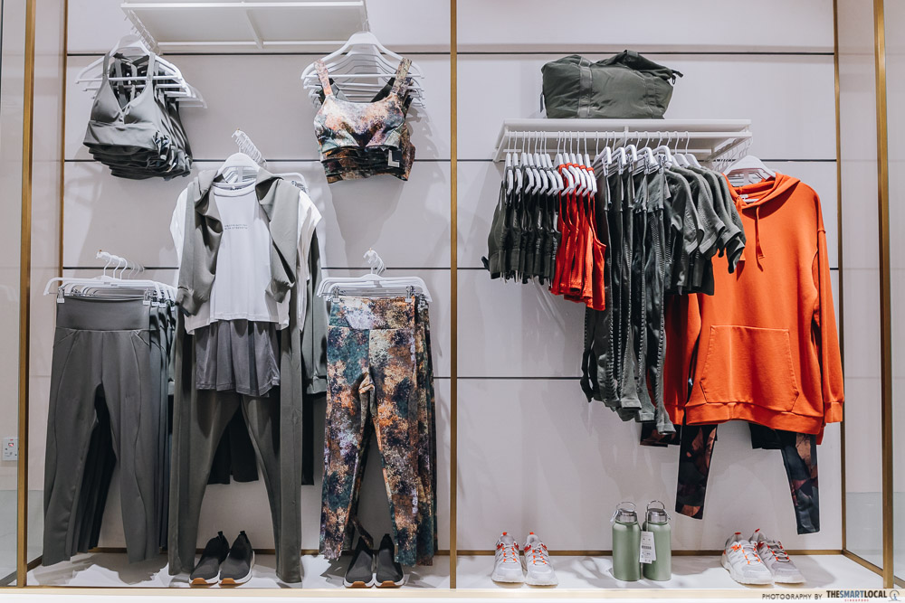 Workout clothes rack at Oysho Jewel Changi