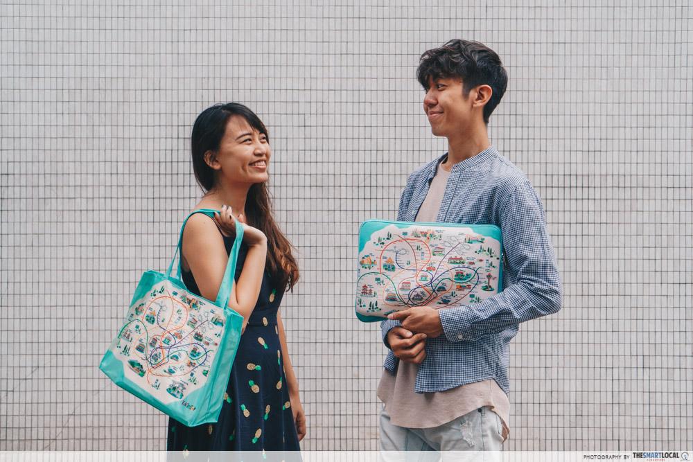 Knackstop bus and MRT merchandise - laptop sleeve