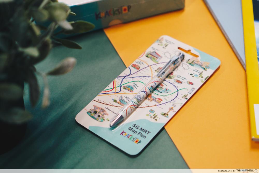 Knackstop bus and MRT merchandise - MRT map pen