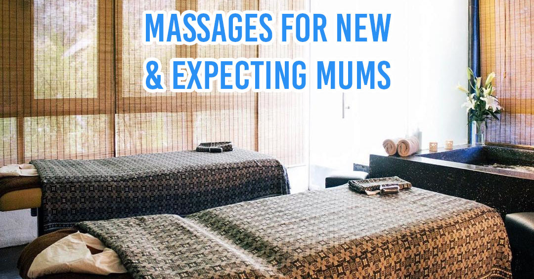 Massages and spas for new and expecting moms