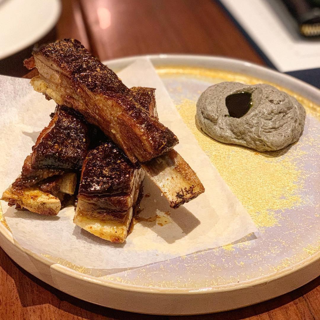 Lamb ribs at Cheek Bistro
