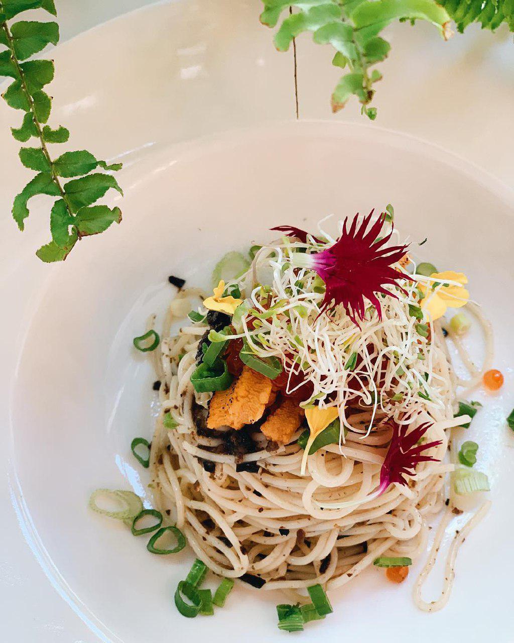 Uni Truffle spaghetti at Botany cafe