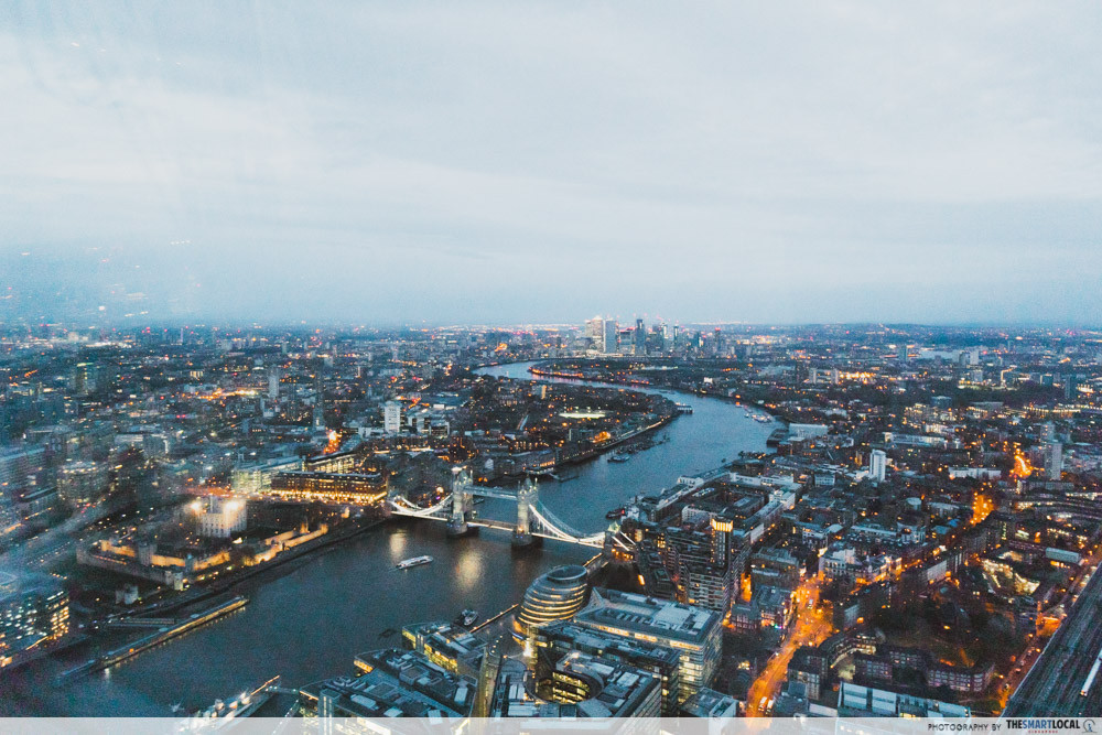London skyline view