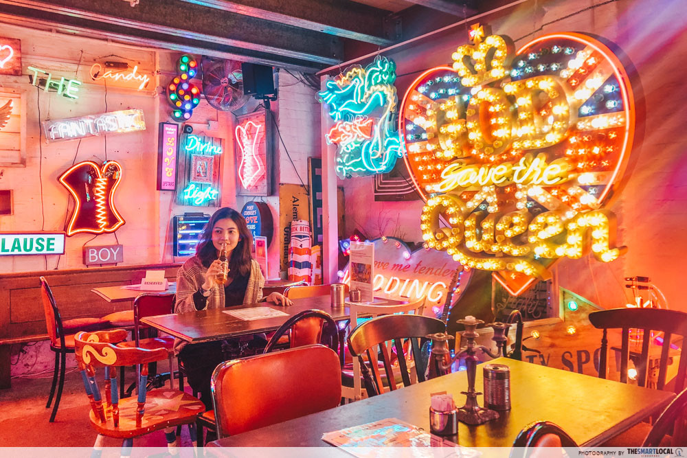God's Own Junkyard - neon lights cafe
