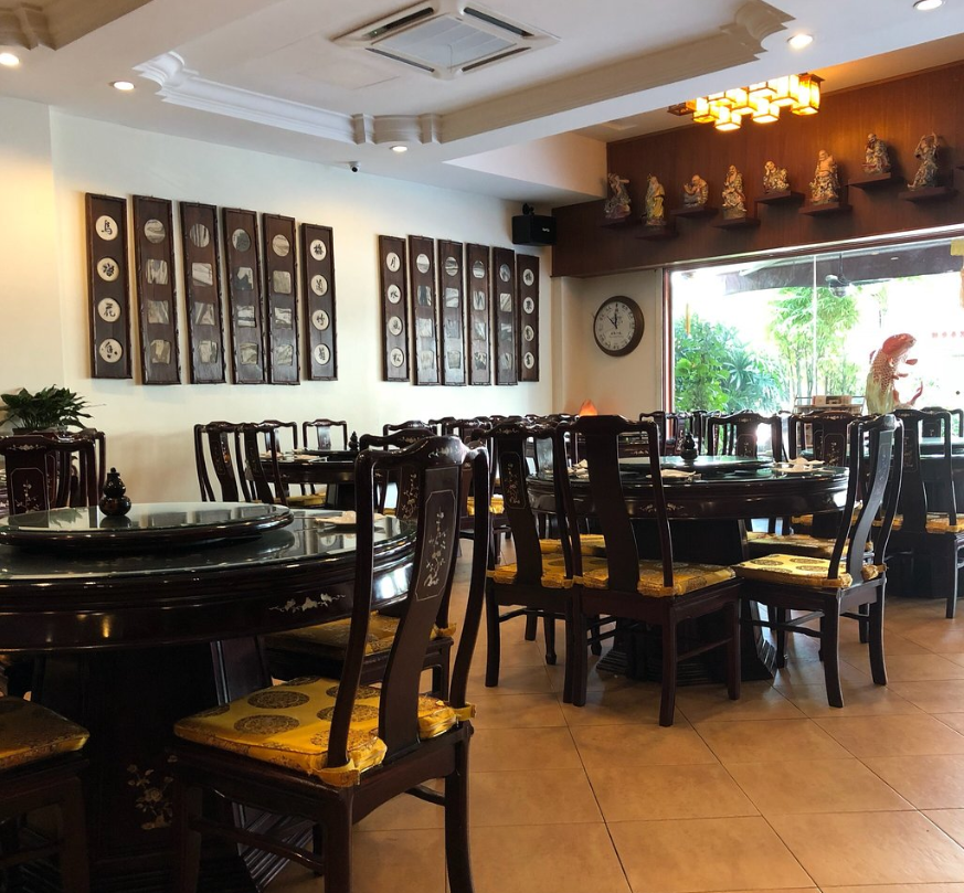 Oriental interior at Nature's Vegetarian