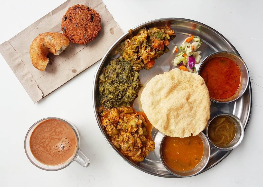 Basic Thali at The Ganga Cafe
