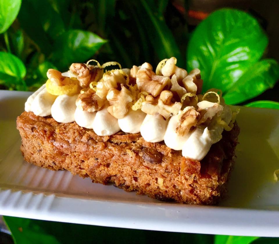Vegan carrot cake at Loving Cafe Sri Petaling