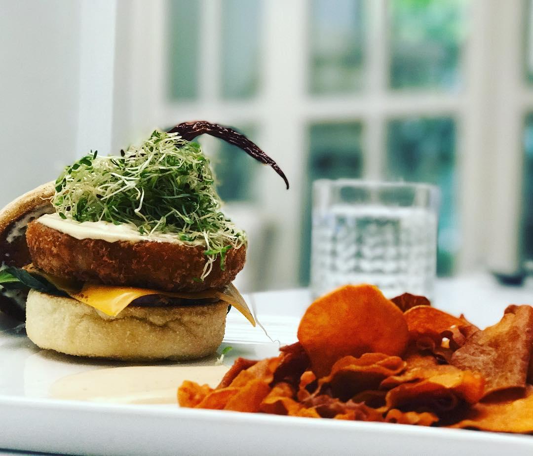 Mediterranean Vege Burger at Barat Lifestyle