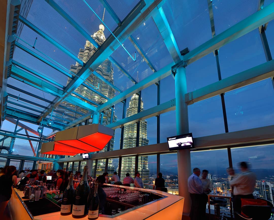 best rooftop bars in Kuala lumpur kl cheap drinks city views marini's on 57