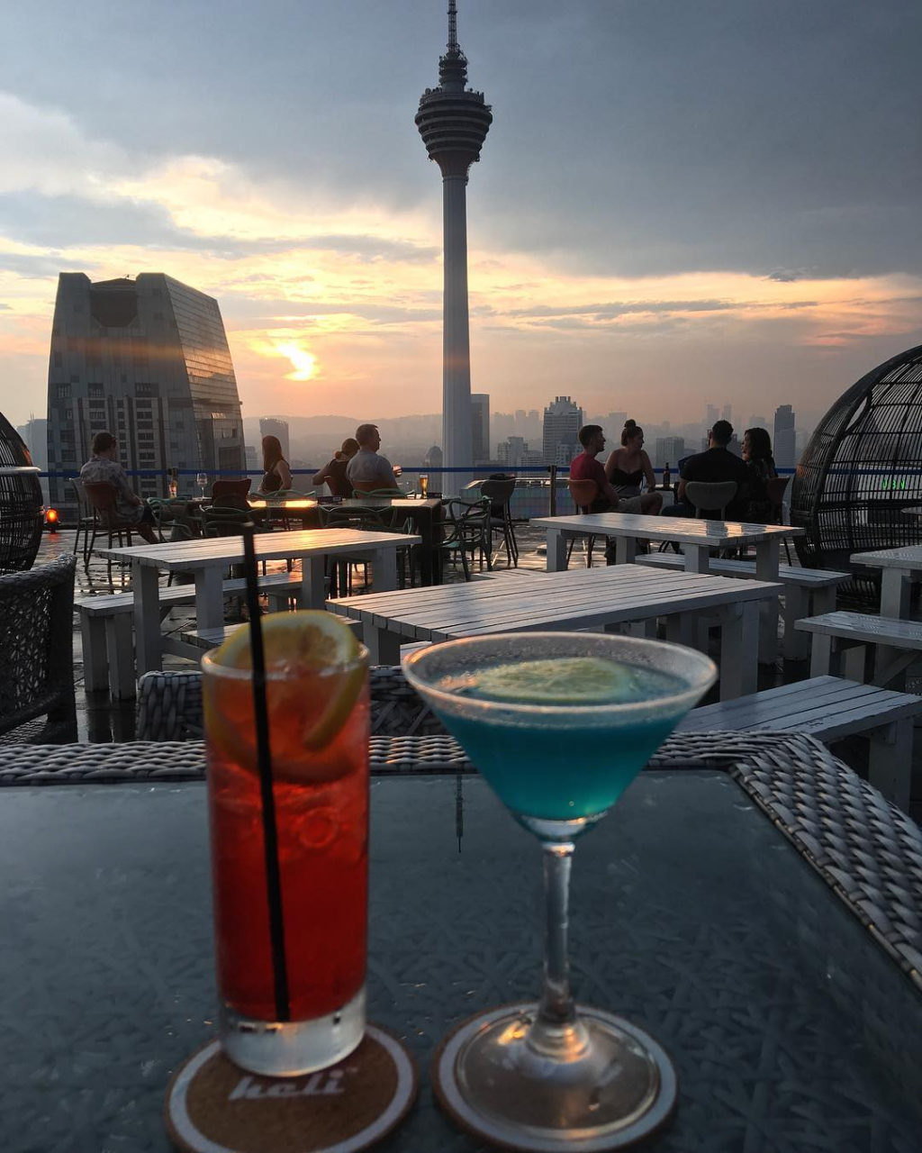 best rooftop bars in Kuala lumpur kl cheap drinks city views heli lounge bar