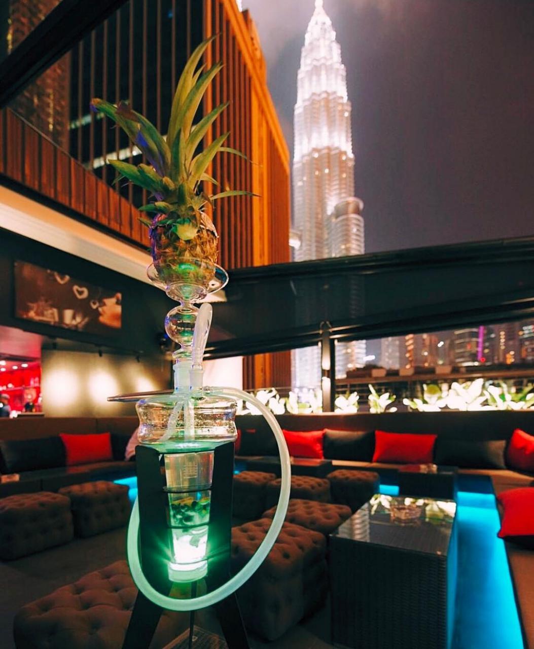 best rooftop bars in Kuala lumpur kl cheap drinks city views canopy lounge shisha
