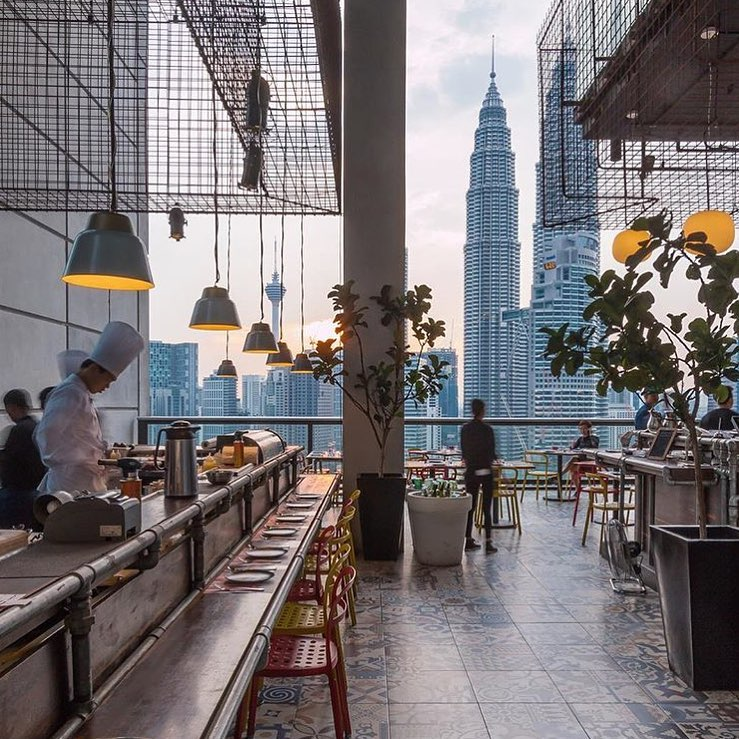 best rooftop bars in Kuala lumpur kl cheap drinks city views fuego troika sky dining