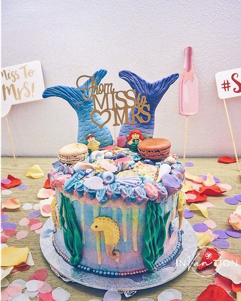 customised birthday cakes home baker singapore invantion mermaid themed cake