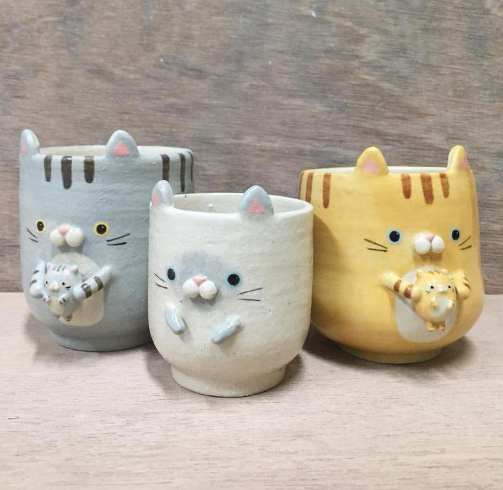 Cat teacups Fluffette
