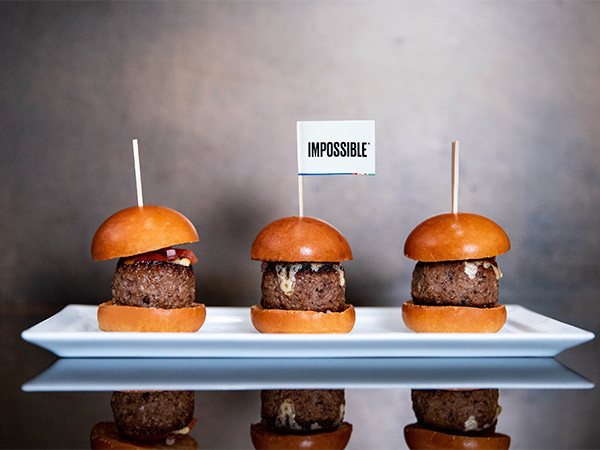 Impossible burgers at Wolfgang Puck