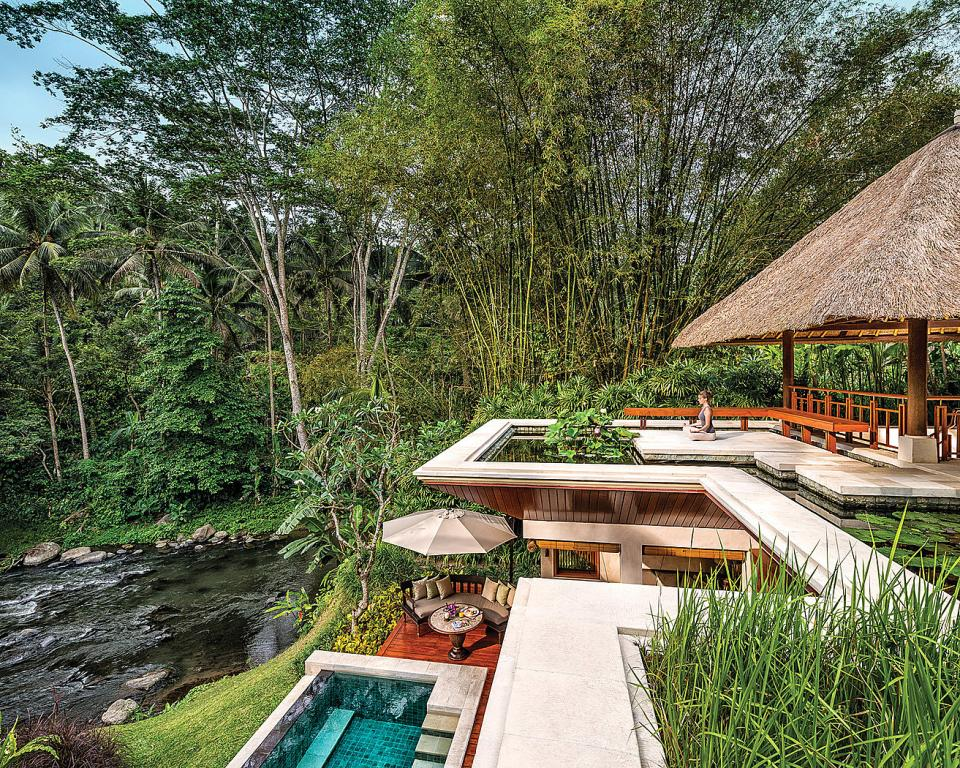 bali jungle resort eco resort hotel villa private pool four seasons sayan