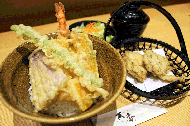 chicken tempura miso soup