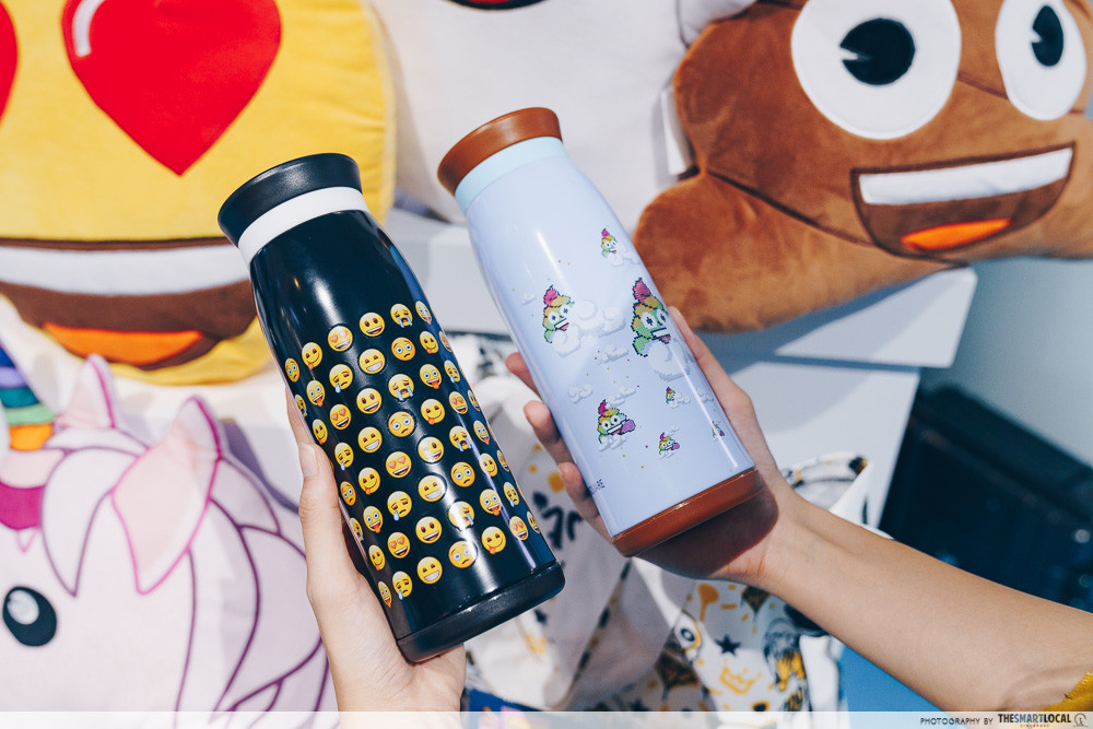 marina square emoji themed photo station pop up event thermal flasks