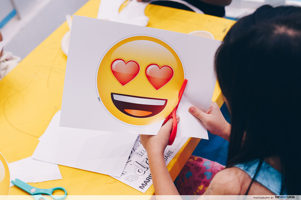 marina square emoji themed photo station pop up event kids activities