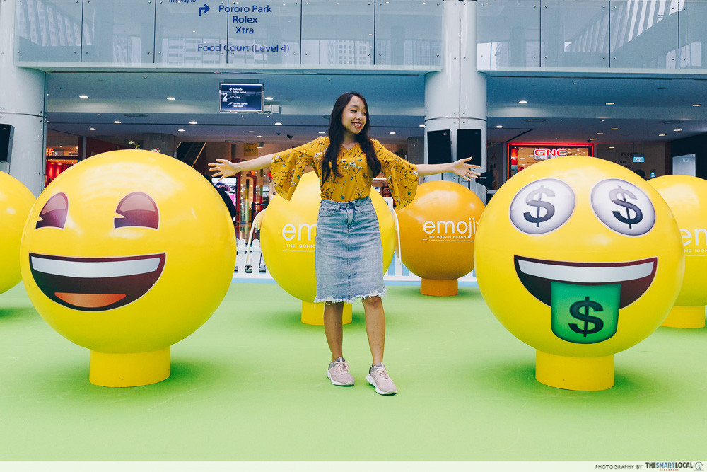 marina square emoji themed photo station pop up event emoji 3d