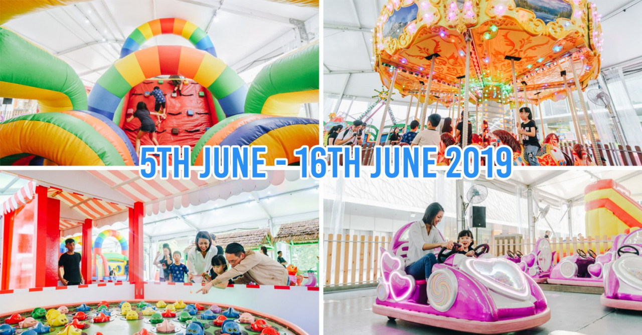 VivoCity Has A Free Holiday Carnival For The Kids With Bouncy